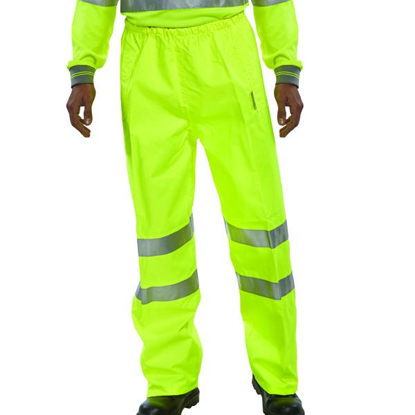 Hi-Viz Trousers EN ISO20471 S/Yellow Med
