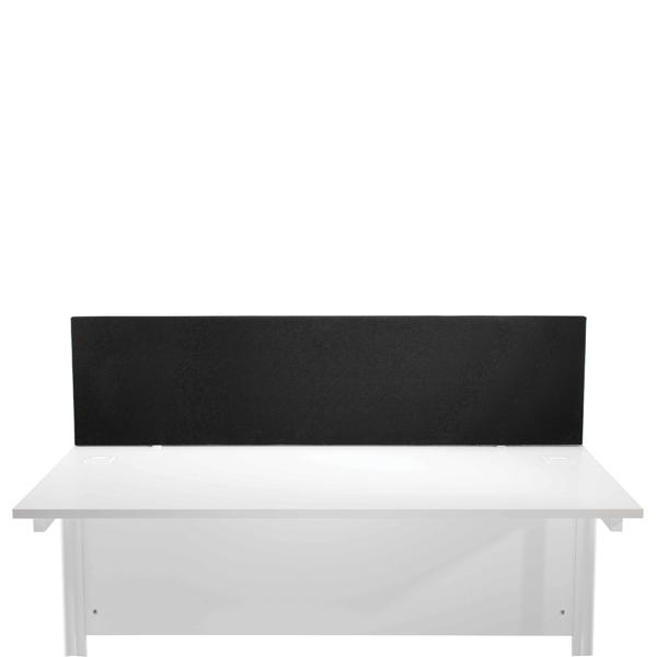 FF Jemini Black 1600mm Strt Desk Screen