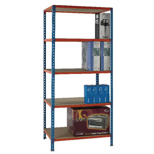 Blue/Orange 90x40cm Shelving Unit 378969