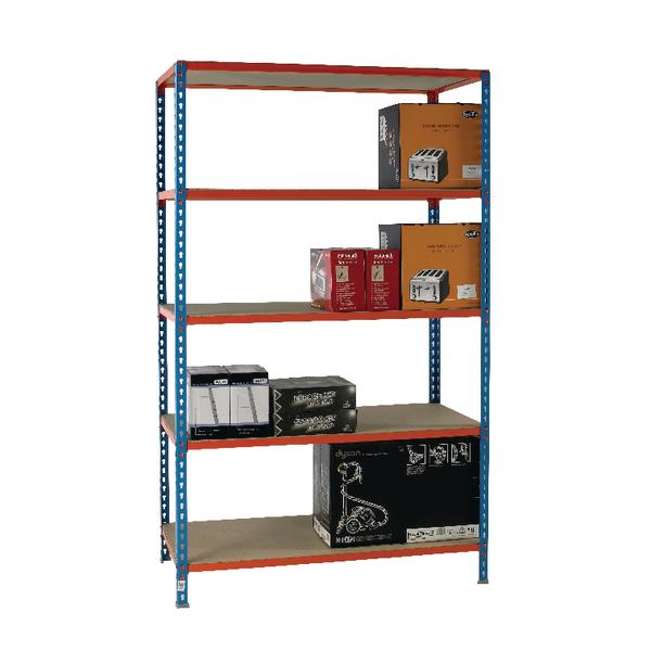 Blue/Orange 120x30cm Shelf Unit 378983