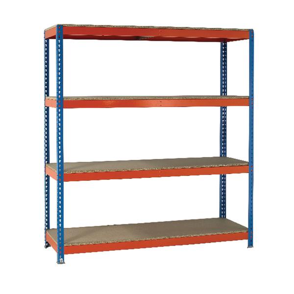 Orange/Zinc 2500X1500Xd600mm Shelving