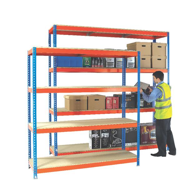 Orange/Zinc H/Duty 210x90cm Shelf 378864