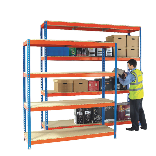 Orange/Zinc H/Duty 150x60cm Shelf 378853