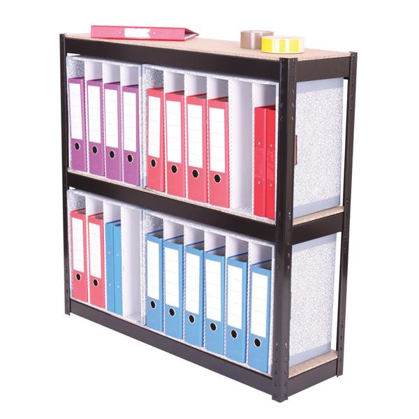 FF Zamba 3 Shelf Larch File Unit Blk